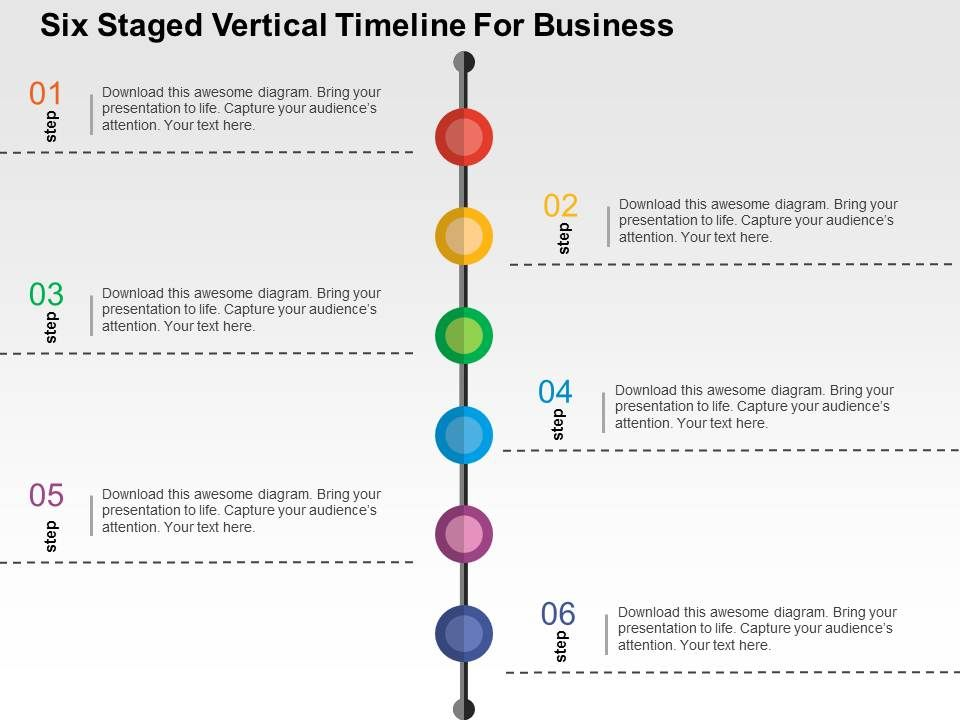 six_staged_vertical_timeline_for_business_flat_powerpoint_design_Slide01