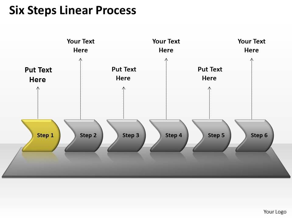 Six Steps Linear Process 76   Presentation Graphics   Presentation Which is the best way to go for Game playing problem?