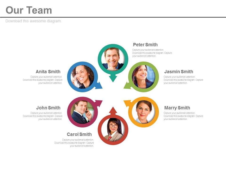 six_team_members_for_process_flow_analysis_powerpoint_slides_Slide01