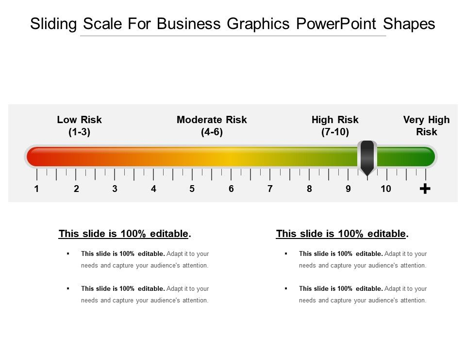 Sliding Scale For Business Graphics Powerpoint Shapes