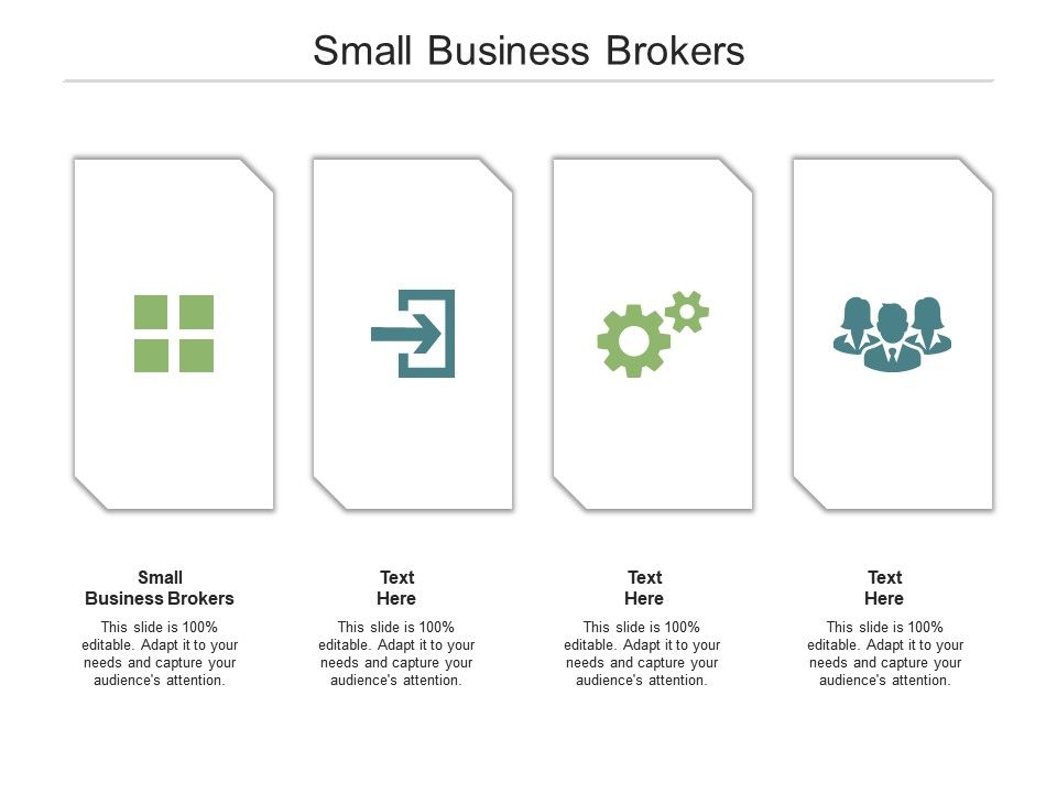 Small Business Brokers Ppt Powerpoint Presentation File Maker Cpb