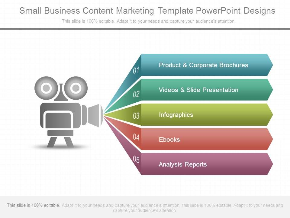 small business content marketing template powerpoint designs, Modern powerpoint