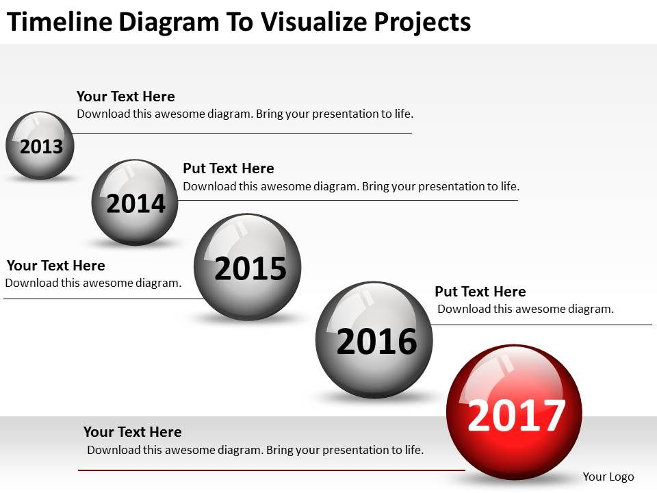 Small Business Network Diagram Timeline To Visualize Projects Point Templates Slide01