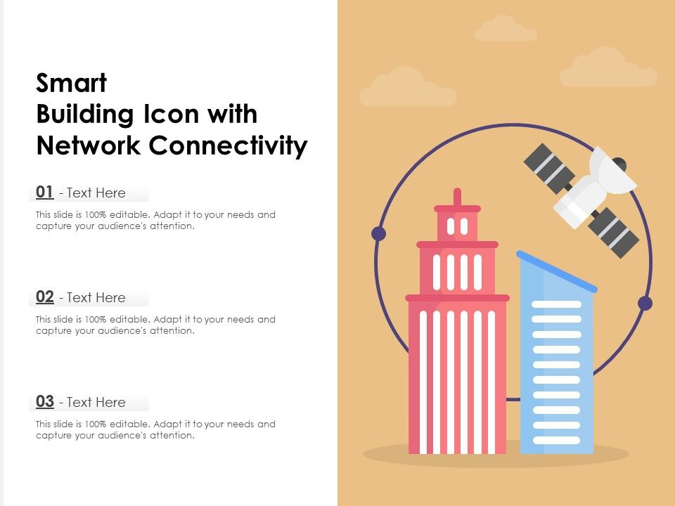 Smart Building Icon With Network Connectivity