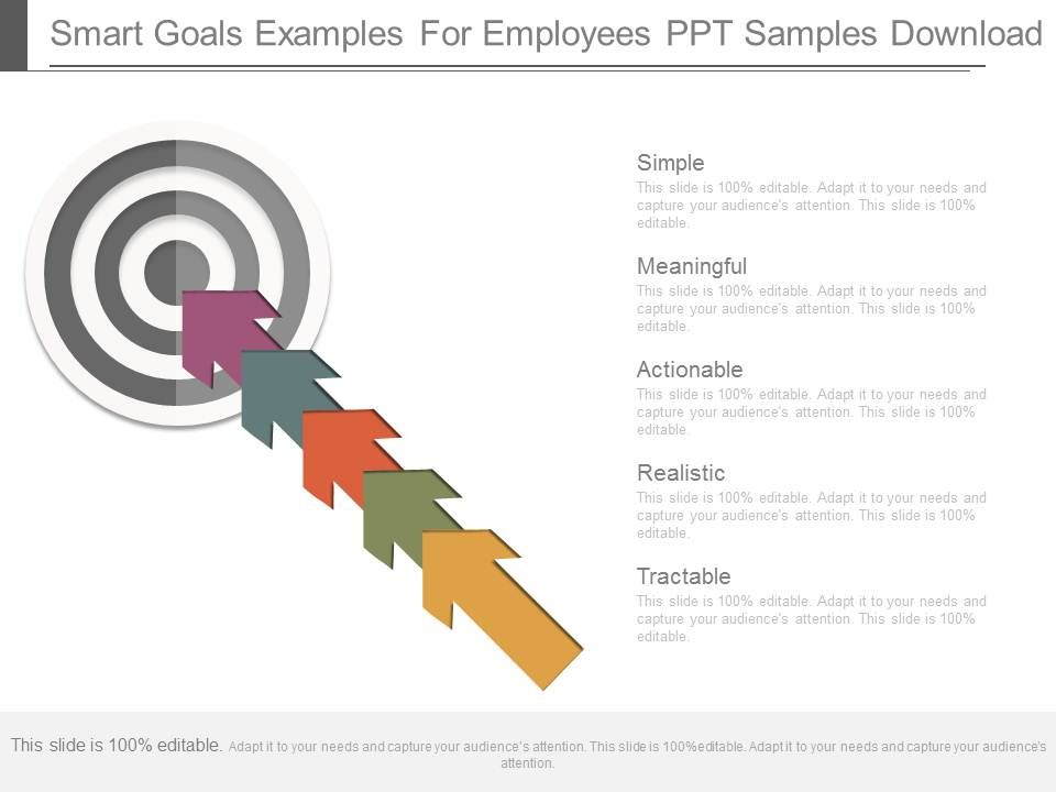 Smart goals examples for employees ppt samples download for Smart goals template for employees