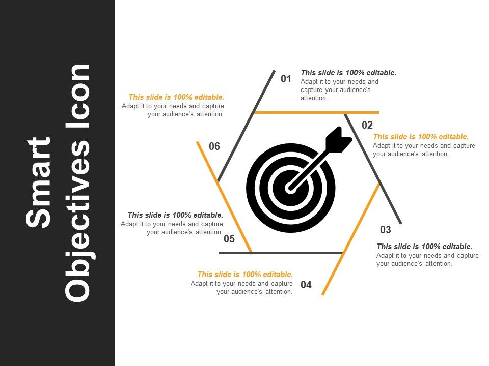 smart objectives icon ppt sample download