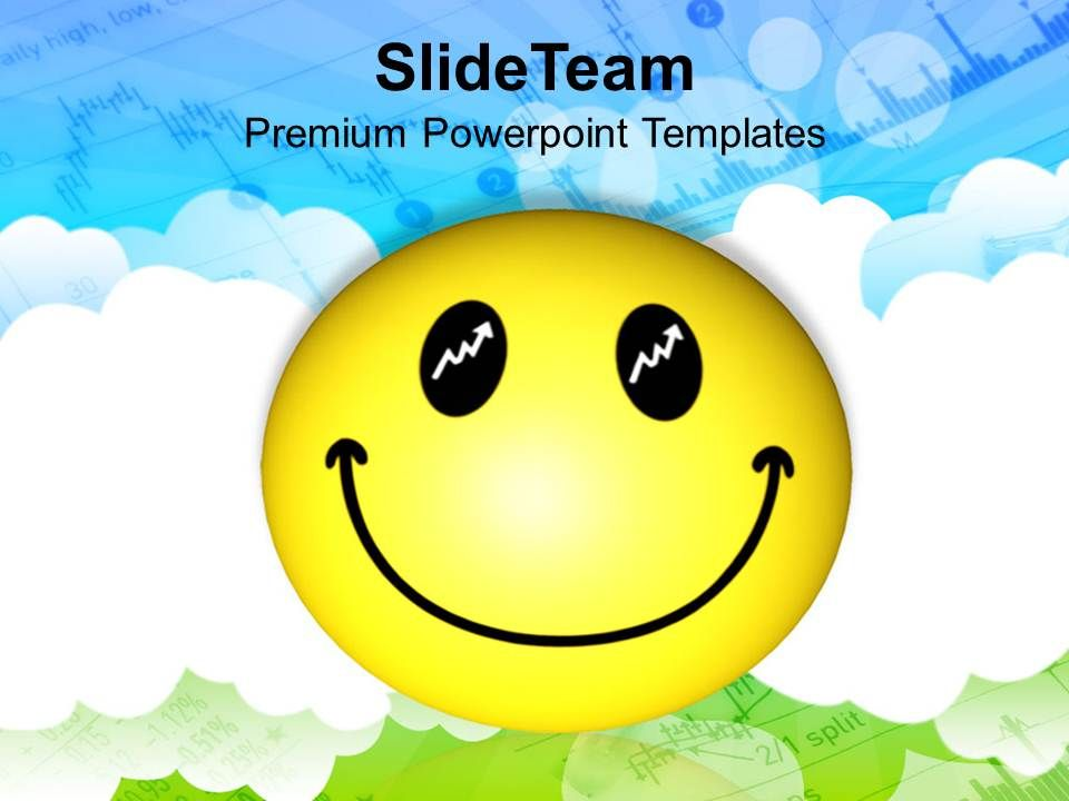 Smiley Face Over Cloudy Background Powerpoint Templates Ppt Themes