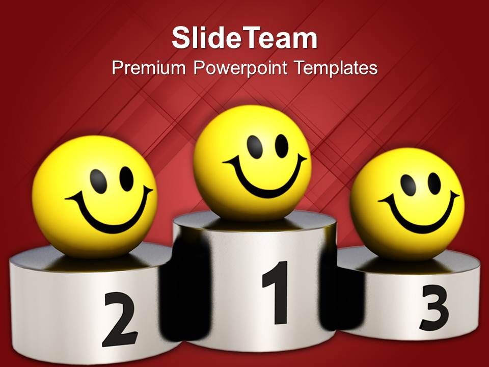smileys_on_winner_podium_competition_powerpoint_templates_ppt_themes_and_graphics_Slide01