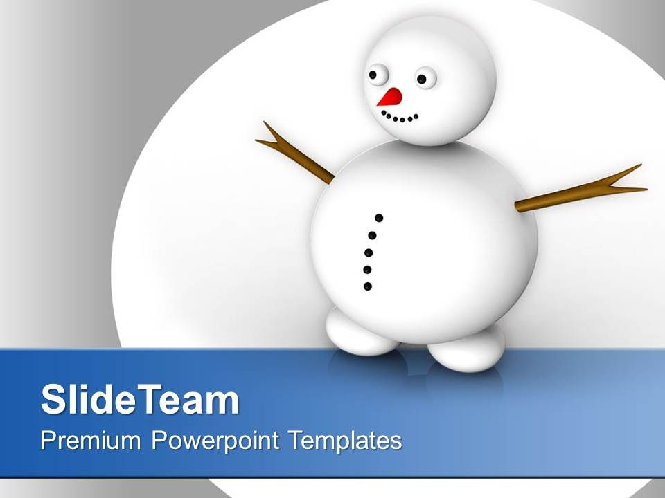 Snowman Celebration Happiness Winter Powerpoint Templates Ppt Themes