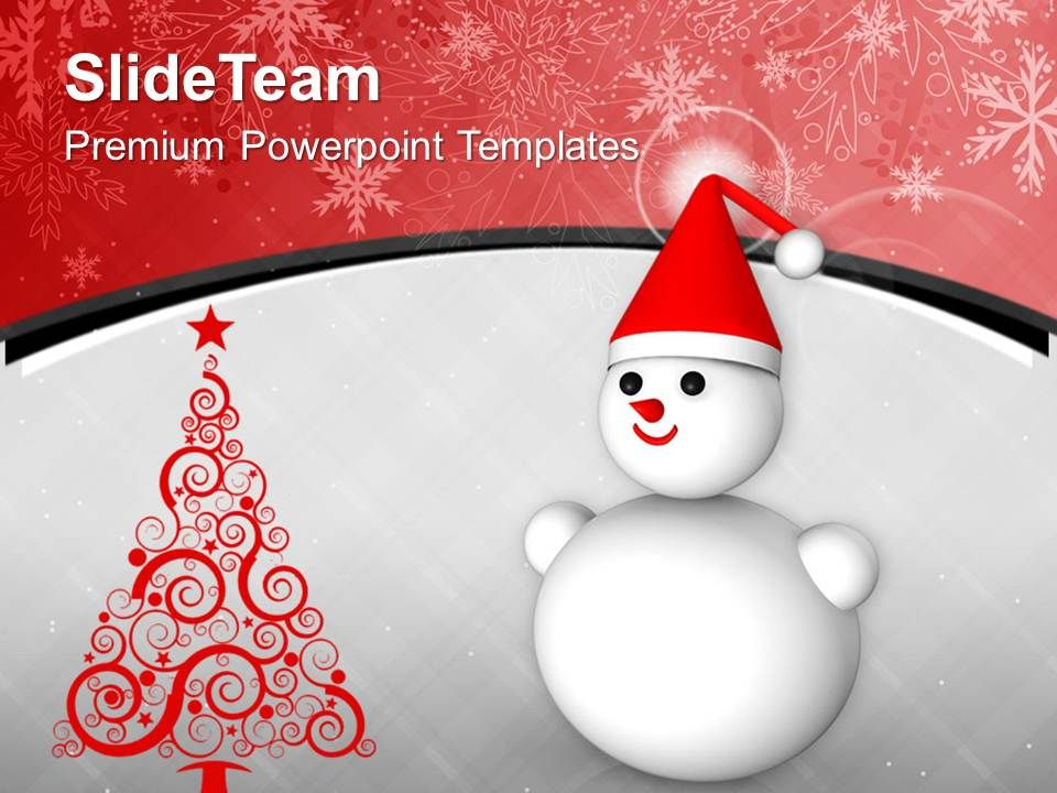 snowman_on_christmas_background_holidays_powerpoint_templates_ppt_themes_and_graphics_Slide01
