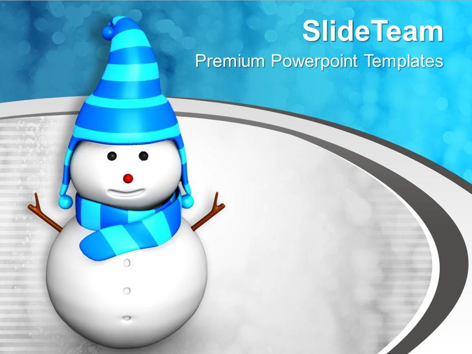snowman_on_stylish_background_powerpoint_templates_ppt_themes_and_graphics_0113_Slide01