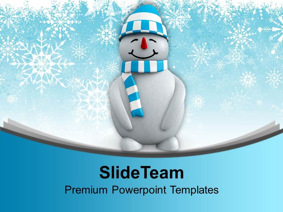 Snowman With Hat Standing Winter Powerpoint Templates Ppt Themes