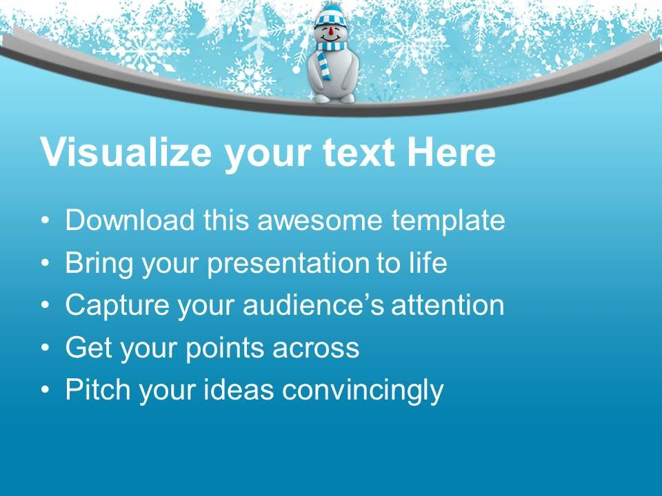 Snowman With Hat Standing Winter Powerpoint Templates Ppt Themes And