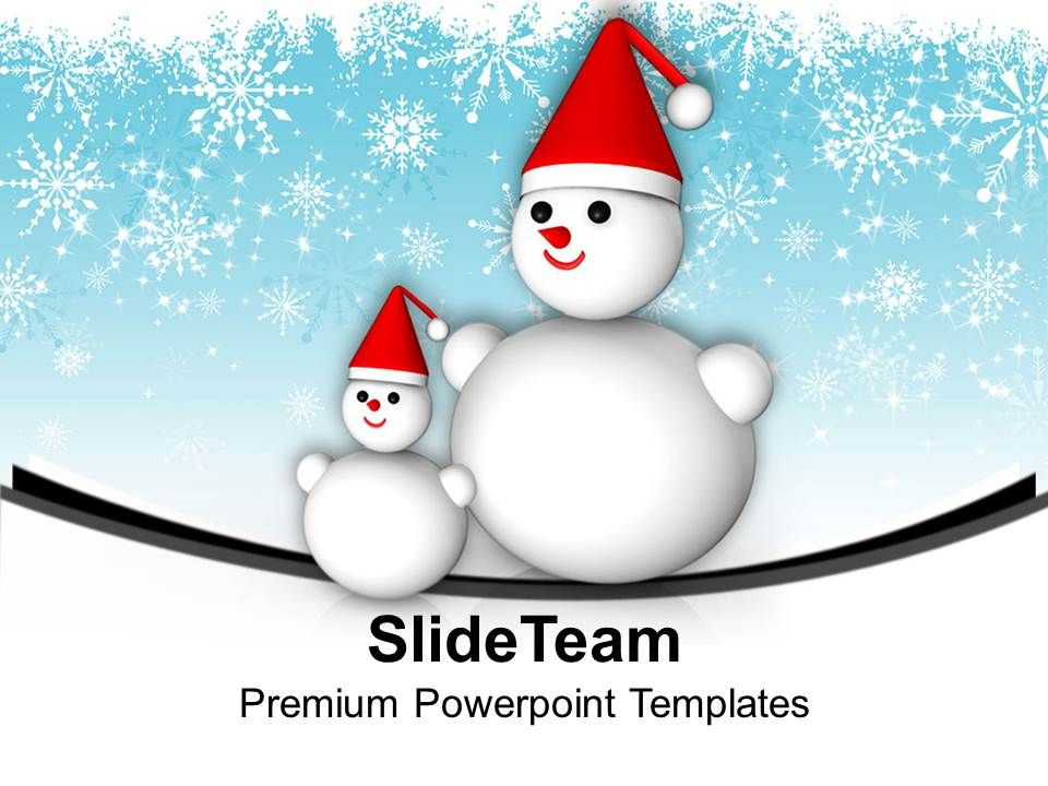 snowmen_on_snowflakes_background_christmas_eve_powerpoint_templates_ppt_themes_and_graphics_Slide01