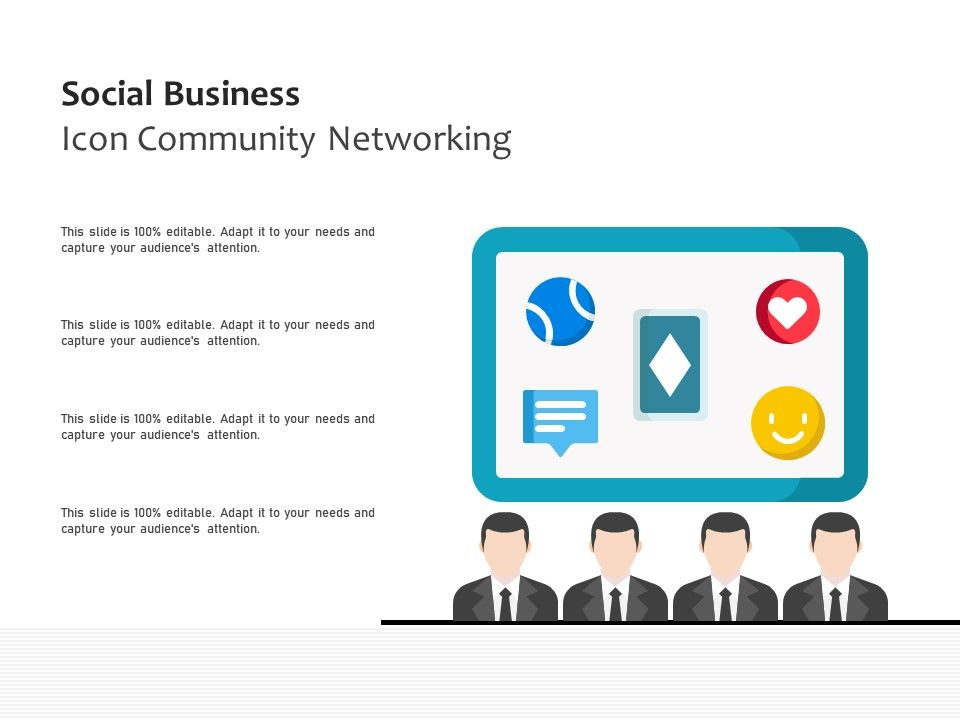 Social Business Icon Community Networking
