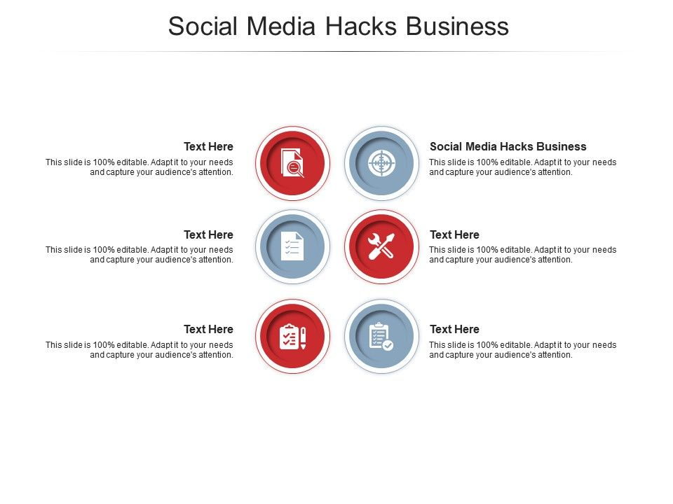 Social Media Hacks Business Ppt Powerpoint Presentation Visual Aids Icon Cpb