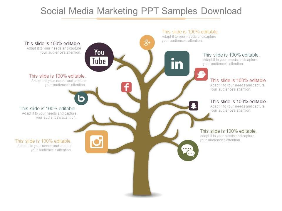 social media marketing ppt samples download powerpoint