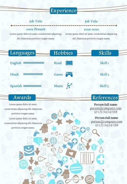 Social Media Specialist Creative Resume Design Infographic