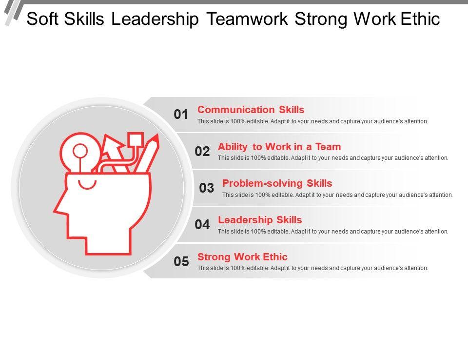 soft skills leadership teamwork strong work ethic