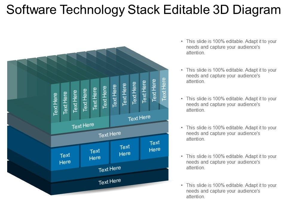 Software Technology Stack Editable 3d Diagram Powerpoint