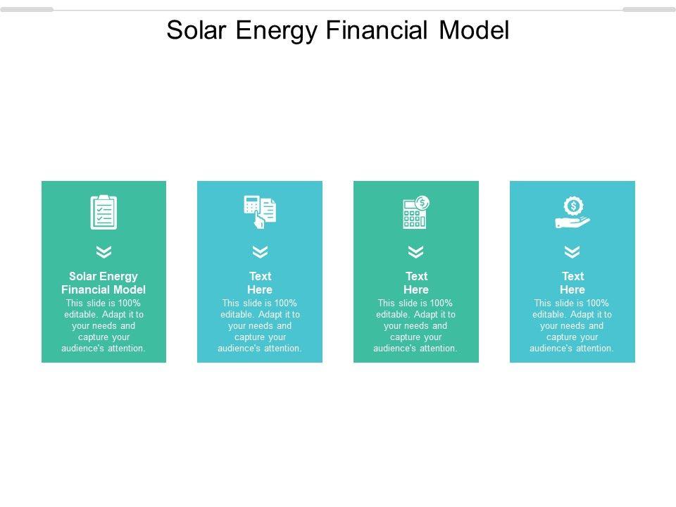 Solar Energy Financial Model Ppt Powerpoint Presentation Tips Cpb