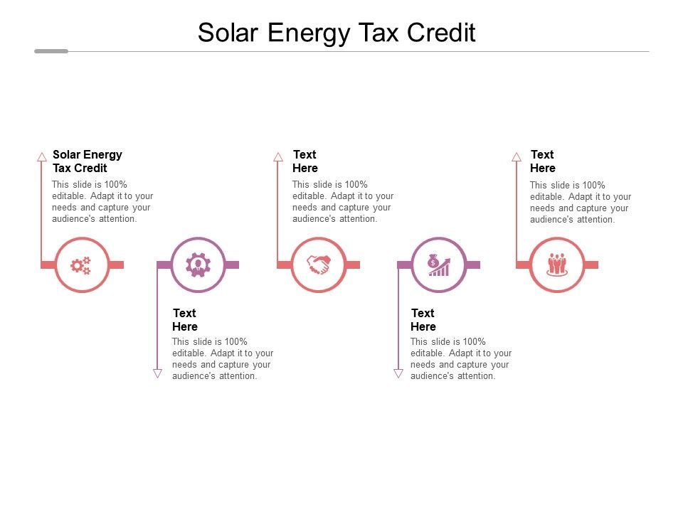 Solar Energy Tax Credit Ppt Powerpoint Presentation Infographic Template Cpb
