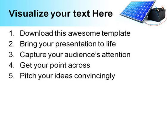 Solar Panel Charges Battery Technology PowerPoint Templates And ...