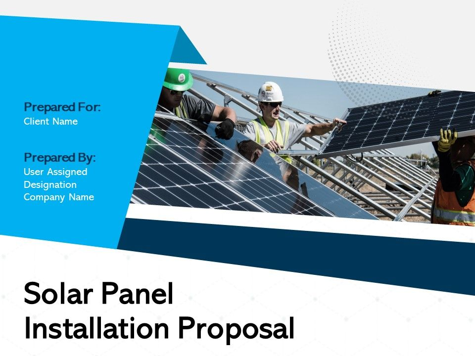 Solar Panel Installation Proposal Powerpoint Presentation Slides Powerpoint Presentation Sample Example Of Ppt Presentation Presentation Background
