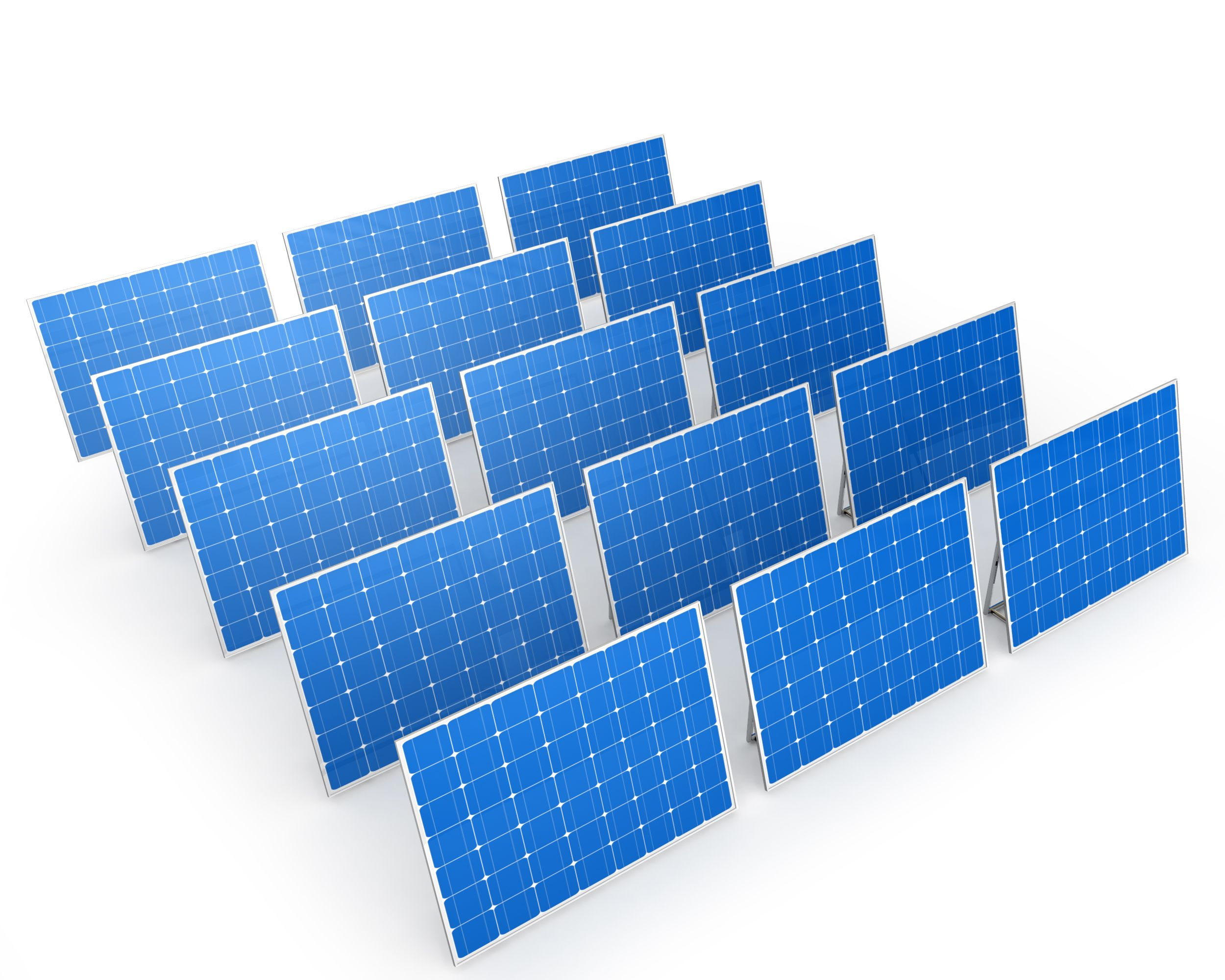 Solar Panels With White Background Stock Photo Powerpoint