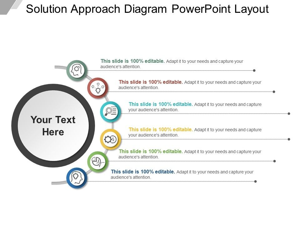 Solution Approach Diagram Powerpoint Layout | PowerPoint Slide ...