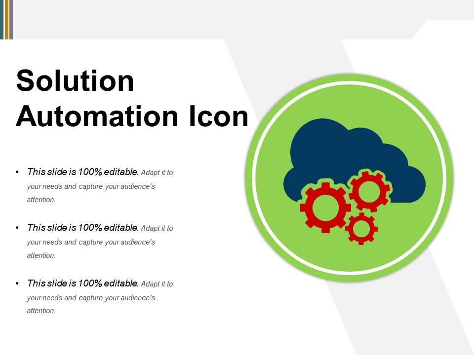 Solution Automation Icon Powerpoint Topics | PowerPoint