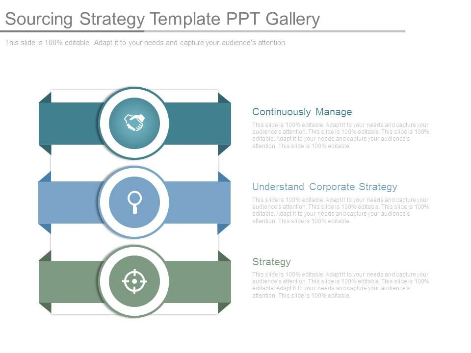 Sourcing Strategy Template Ppt Gallery Slide01 Slide02 Slide03