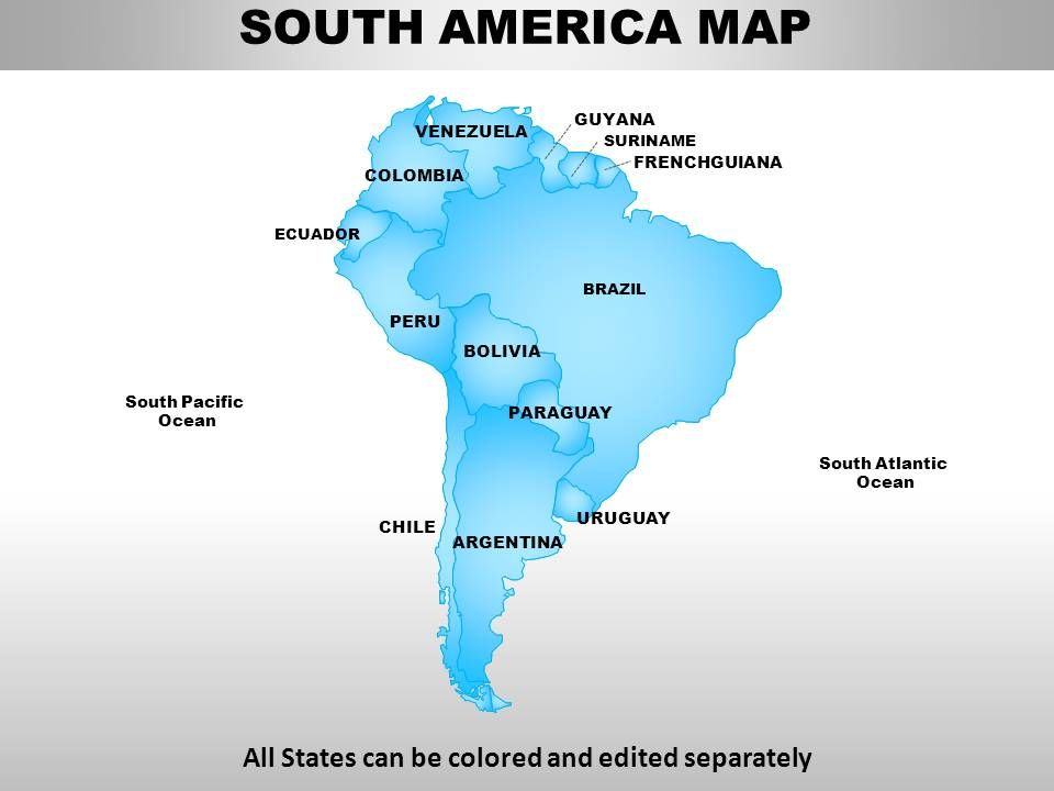 South America Continent Powerpoint Maps' powerpoint templates ppt ...