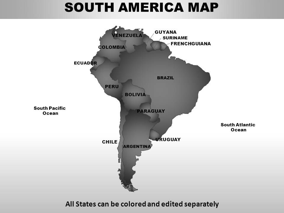 South America Continents PowerPoint maps | PowerPoint Slide ...