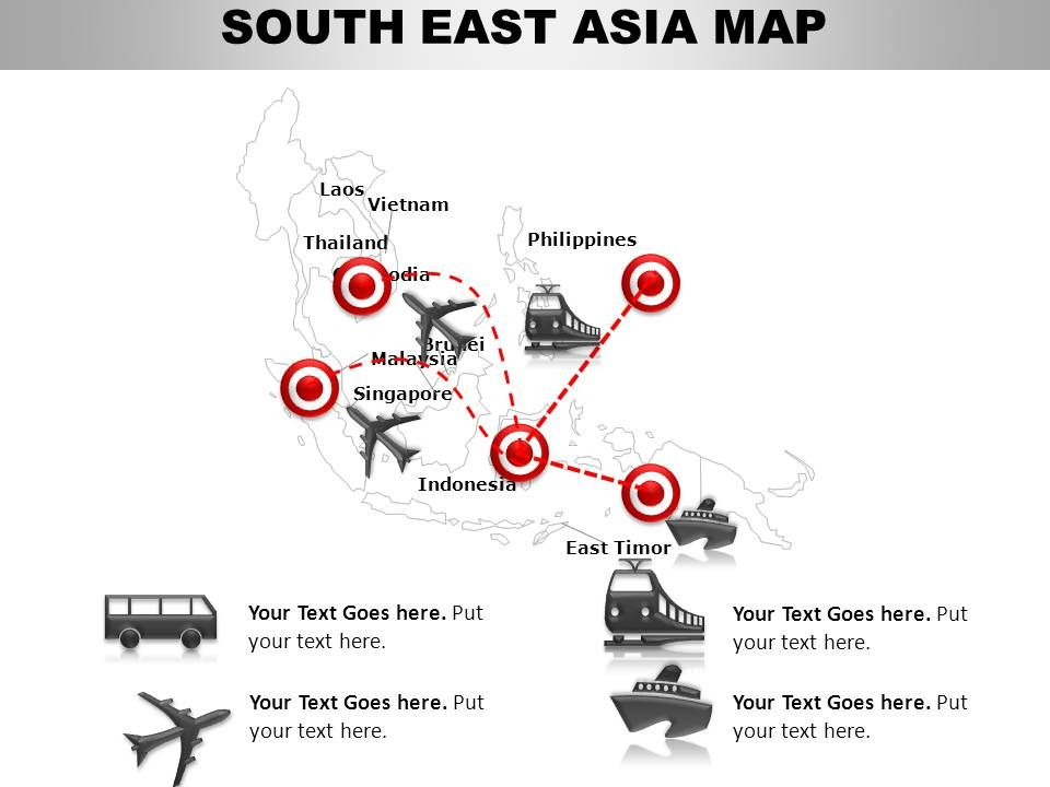 South East Asia Continents PowerPoint maps  PowerPoint Slide