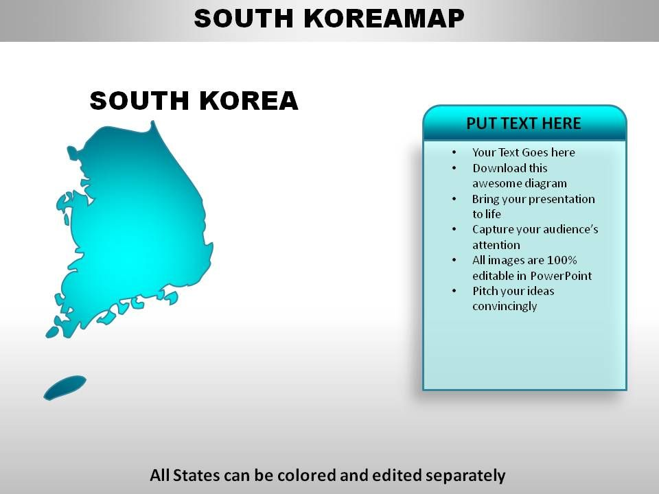 South Korea Country Powerpoint Maps Templates Powerpoint Slides