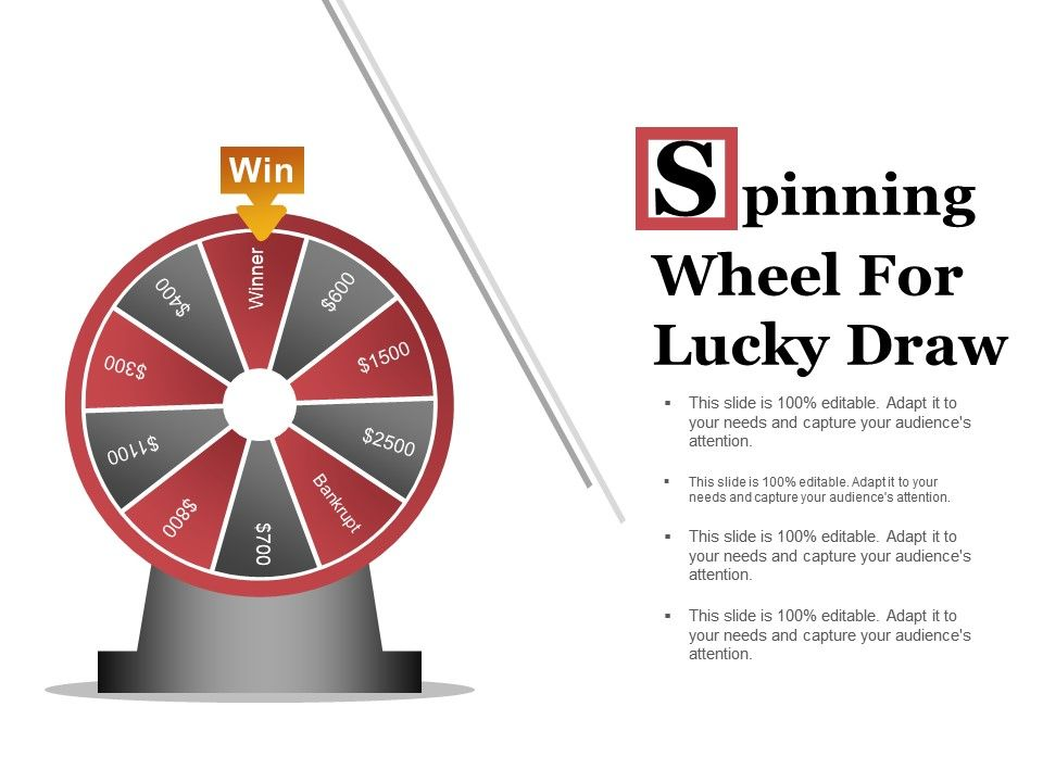 spinning wheel for lucky draw powerpoint templates | powerpoint, Powerpoint templates
