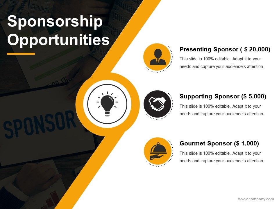 Sponsorship Proposal For Nonprofit Organization Powerpoint - Best of sponsorship proposal presentation concept
