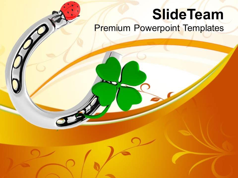 st_patricks_day_3d_lucky_symbol_and_lady_bug_shamrock_templates_ppt_backgrounds_for_slides_Slide01