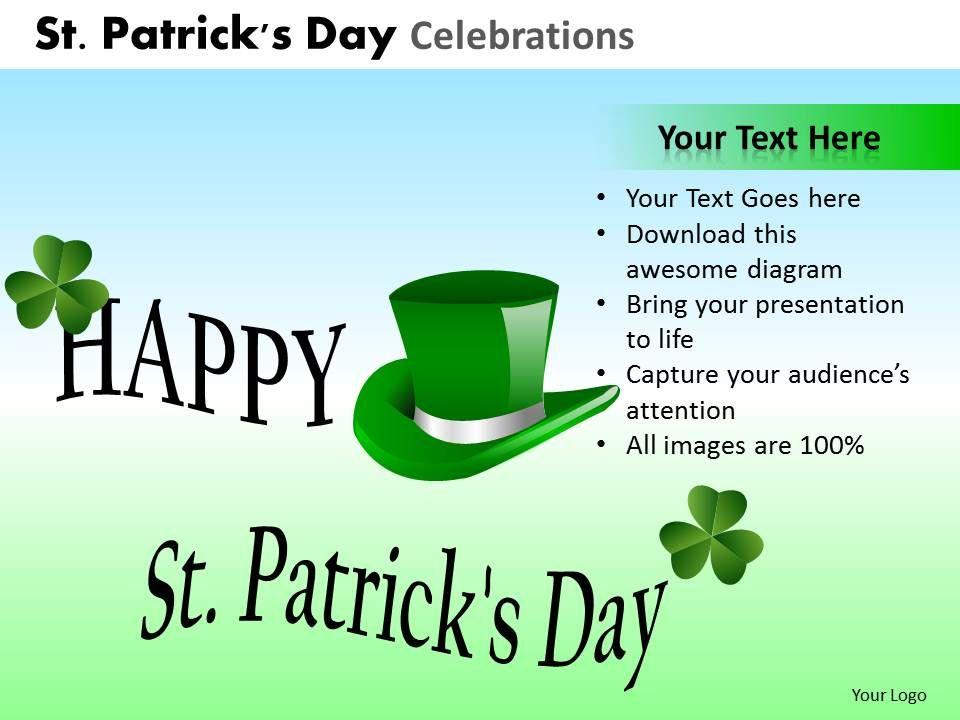 st patricks day celebrations powerpoint slides and ppt templates, Powerpoint templates