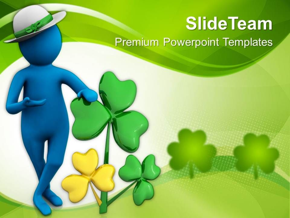 st_patricks_day_clover_man_wearing_round_hat_with_powerpoint_templates_ppt_backgrounds_for_slides_Slide01