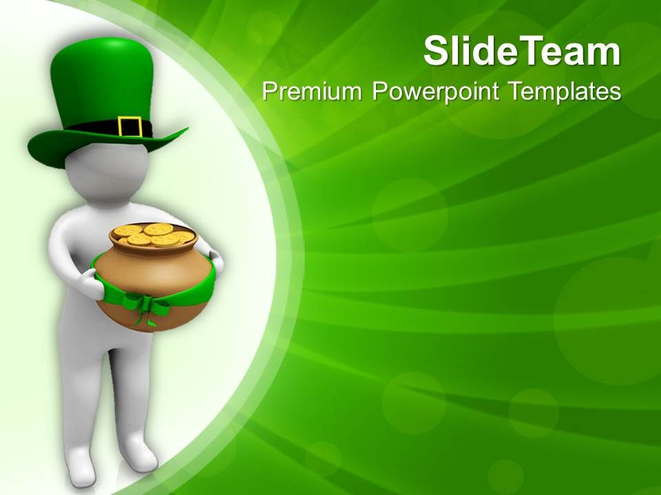 Test our St Patricks Day Date Green Hat And Gold Coins Of Templates ...
