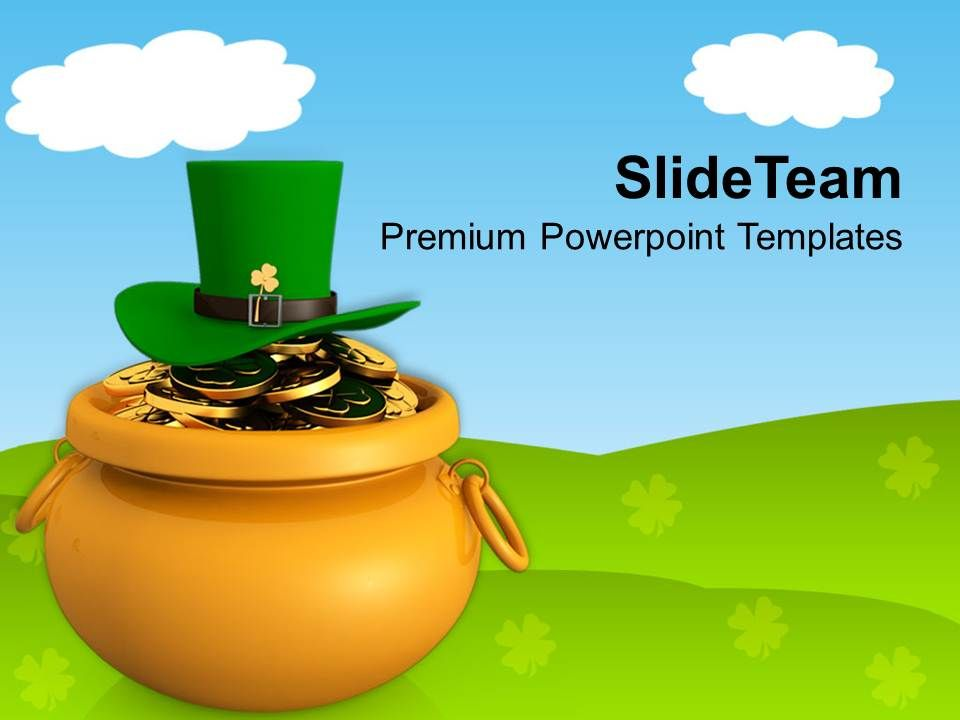 st_patricks_day_date_golden_pot_with_coins_and_green_hat_templates_ppt_backgrounds_for_slides_Slide01