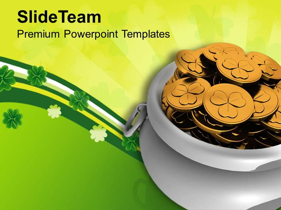 st_patricks_day_decorations_pot_of_gold_coins_irish_savings_templates_ppt_backgrounds_for_slides_Slide01