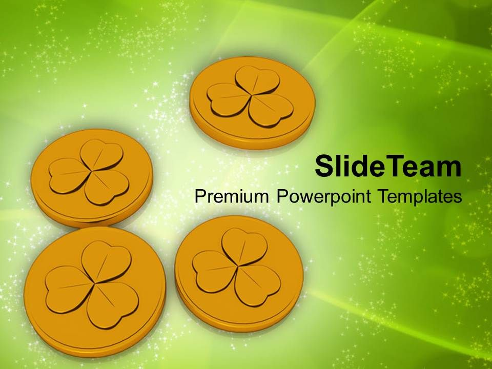 st_patricks_day_festival_lucky_golden_coins_wealth_powerpoint_templates_ppt_backgrounds_for_slides_Slide01