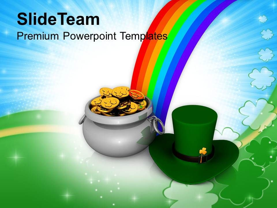st_patricks_day_irish_hat_and_pot_of_gold_coins_templates_ppt_backgrounds_for_slides_Slide01