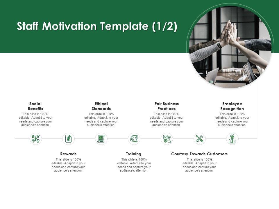 Staff Motivation Template Employee Recognition Ppt Powerpoint Presentation Slides Ideas