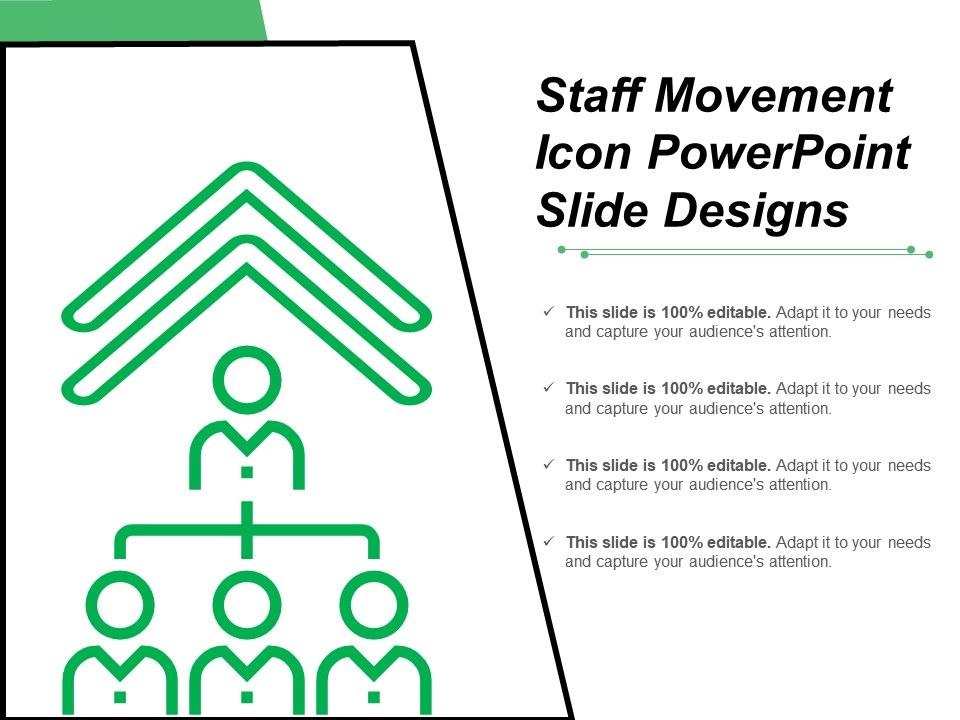 staff movement icon powerpoint slide designs powerpoint design