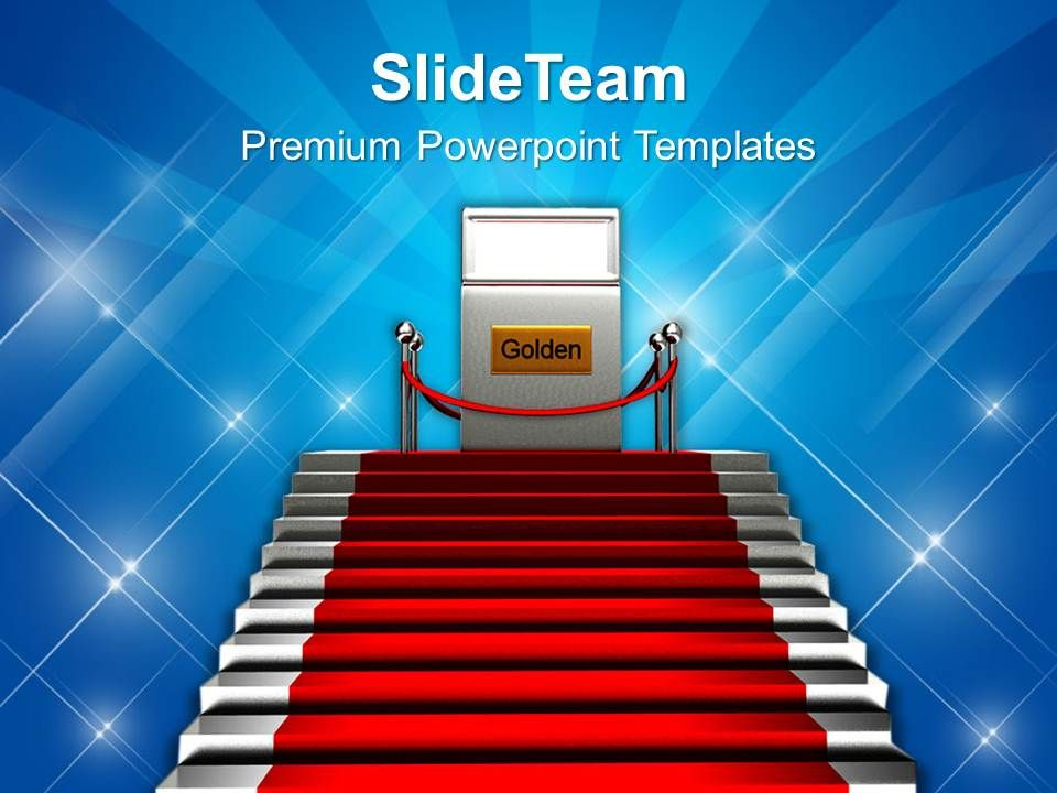stairs and red carpet success powerpoint templates ppt themes and