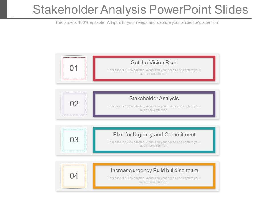 Stakeholder Analysis Powerpoint Slides  Powerpoint Slide